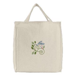 Dragonfly Garden Tote Canvas Bag