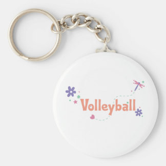 DragonFly Garden Volleyball Basic Round Button Keychain