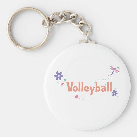 DragonFly Garden Volleyball Keychain