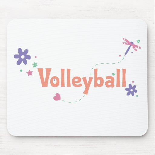 DragonFly Garden Volleyball Mouse Pad
