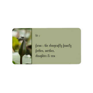 Dragonfly Gift Tag Label