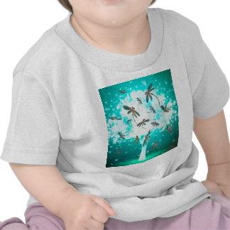 Dragonfly Glow Tree Tee Shirt