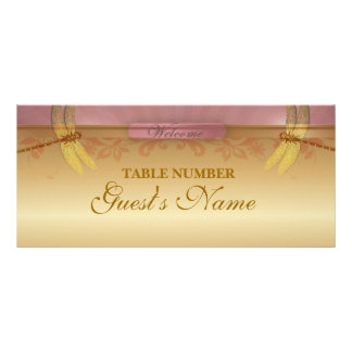 Dragonfly GOLD place setting Custom Rack Cards