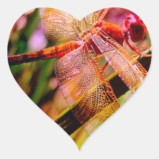 DRAGONFLY GOLDEN HARMONY 2.jpg Heart Sticker