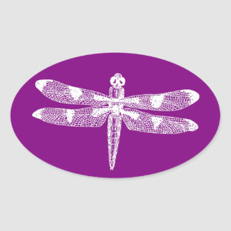 Dragonfly Graphic Oval Oval Sticker