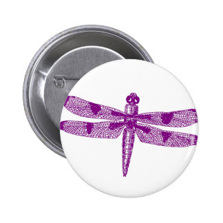 Dragonfly Graphic Round Pinback Button