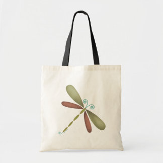 Dragonfly - green/brown canvas bags