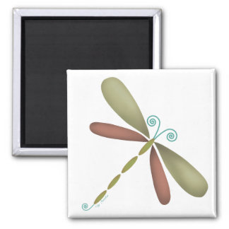Dragonfly - green/brown fridge magnets