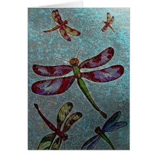 Dragonfly Greeting Card Blank Inside