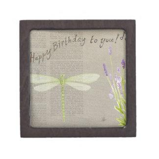 dragonfly happy birthday gift box