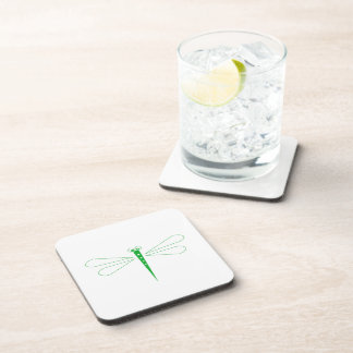 Dragonfly - Hard Plastic coasters - set of 6
