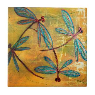 Dragonfly Haze Ceramic Tile