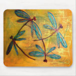 Dragonfly Haze Mouse Pad