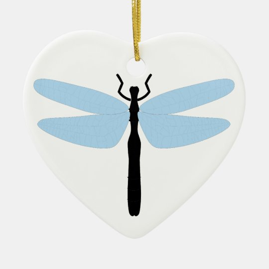 Dragonfly - Heart Ornament