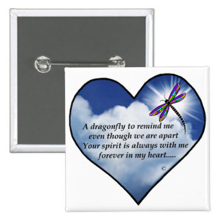 Dragonfly Heart Poem Button