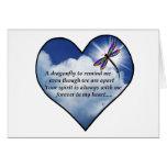 Dragonfly Heart Poem Card