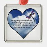 Dragonfly Heart Poem Metal Ornament