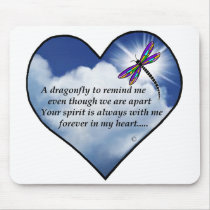 Dragonfly Heart Poem Mouse Pad