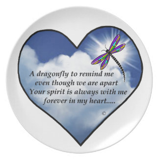 Dragonfly Heart Poem Plate