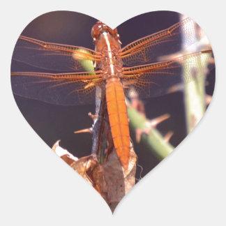 Dragonfly Heart Sticker