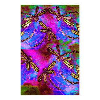 Dragonfly Hippy Flit Stationery
