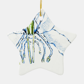 Dragonfly I Fly Double-Sided Star Ceramic Christmas Ornament