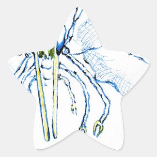 Dragonfly I Fly Star Sticker