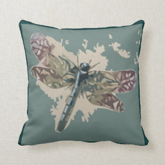Dragonfly Image Throw Pillow