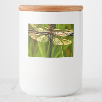 Dragonfly In Brown And Yellow Food Label