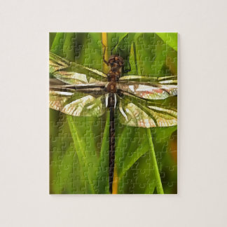 Dragonfly In Brown And Yellow Jigsaw Puzzle
