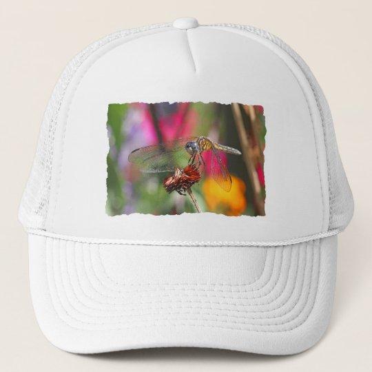 Dragonfly in Colorful Garden Trucker Hat