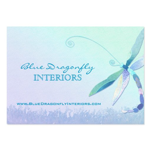 Dragonfly in dreamy field unique business cards zazzle for Dragonfly business cards