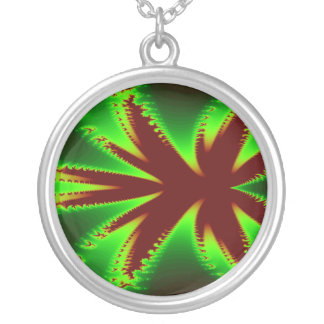 Dragonfly in Flames Fractal Necklace
