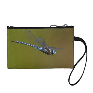dragonfly in flight coin wallet