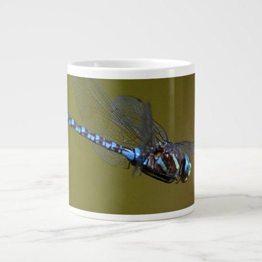 dragonfly in flight large coffee mug