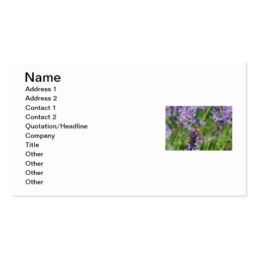 Dragonfly in Lavender Garden Business Cards