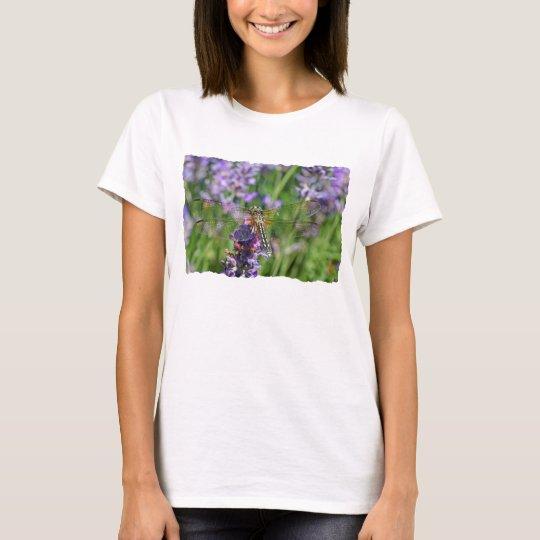 Dragonfly in Lavender Garden T-Shirt