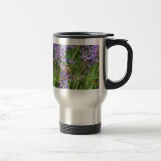Dragonfly in Lavender Garden Travel Mug