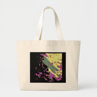 Dragonfly in Moonlight Design by Sharles Canvas Bags