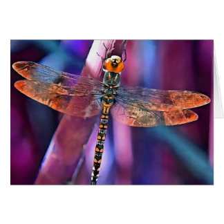 Dragonfly In Orange and Blue Card