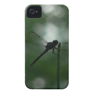 Dragonfly in Silhouette on Horsetail Rush iPhone 4 Case-Mate Case