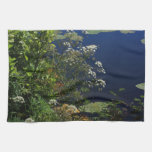 dragonfly in the greenery hand towel