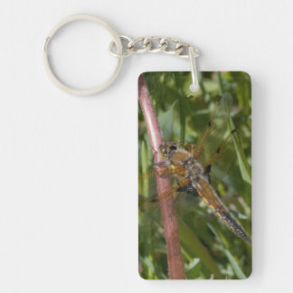 Dragonfly in the Weeds Single-Sided Rectangular Acrylic Keychain