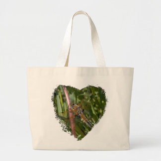 Dragonfly in the Weeds Large Tote Bag