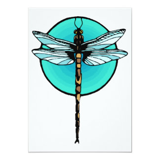 Dragonfly in Turquoise Circle Announcements
