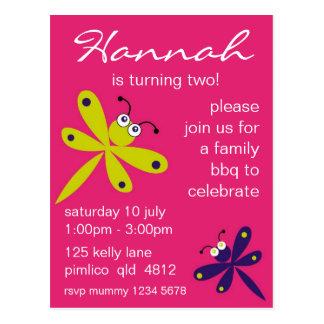Dragonfly Invitation [pink] Postcard
