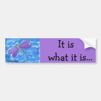 Dragonfly- It is what it is Car Bumper Sticker
