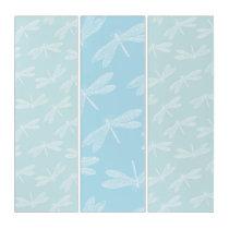 Dragonfly Japanese Kimono Style Pattern Triptych