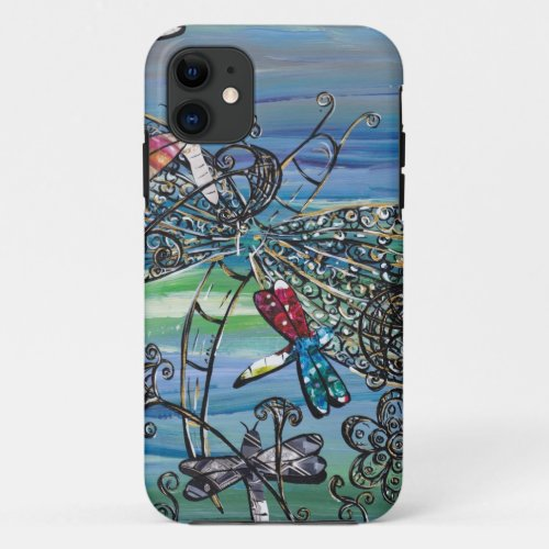 Dragonfly Jewels 2  iPhone Case Phone Case