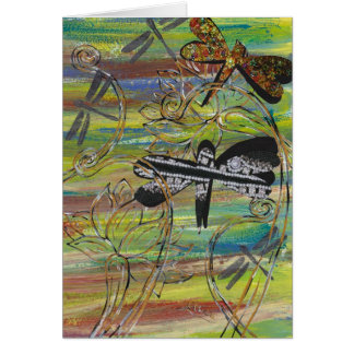 Dragonfly Jewels Greeting Card